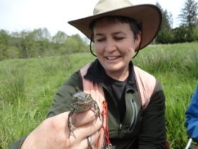 Vikki with Oregon Spotted Frog
